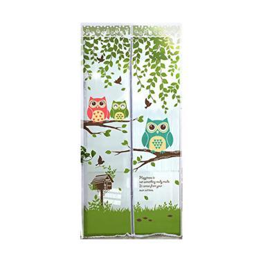 Home-Klik Motif Owl Magnet Tirai Anti Nyamuk - Hijau