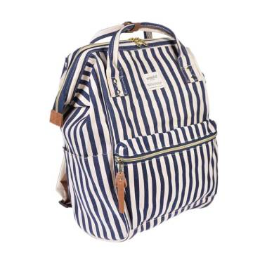 Anello Oxford Backpack Tas Ransel - Stripe Navy [Size L]