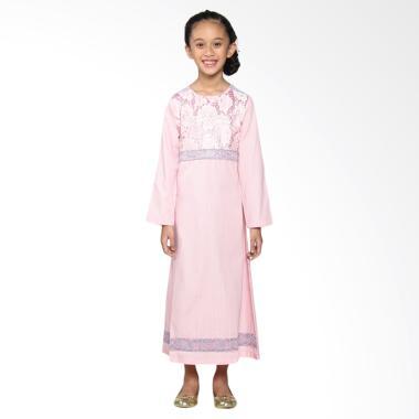 Versail Kids Junior R1114 Glamour Brookat Gamis Anak Perempuan - Pink