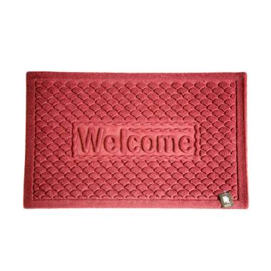 Dixon Motif Welcome Scales Keset Outdoor - Merah [40x60 cm]