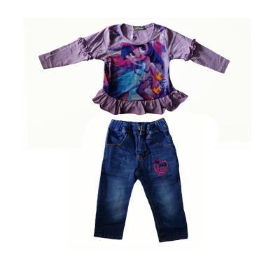 Lil Rose Pony Renda Ungu G Baju Setelan Anak - Purple