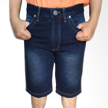 Evergreen HR 7868 Jeans Celana Pendek Pria - Biru Dongker