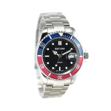 Rhythm RQ1601S06 Jam Tangan Pria - Silver Ring Merah Biru