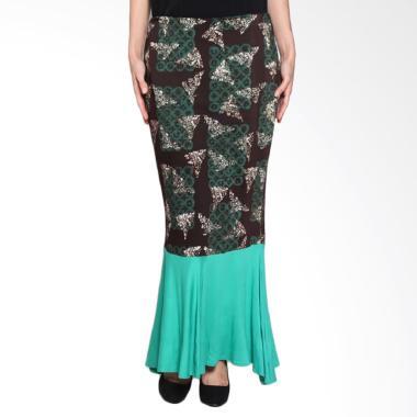 Fafa Collection Leshe 004 Rok Panjang Batik Wanita - Hijau Mix