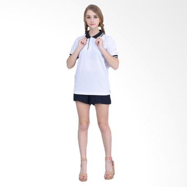 Jfashion Basic Simpel Elegan Kaos Polo Wanita - Putih