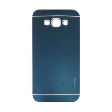 Motomo Metal Hardcase Casing for Samsung Galaxy E7 - Dark Blue