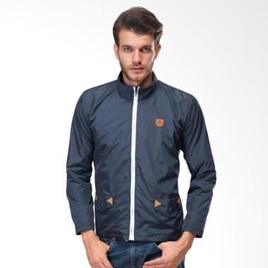Sognoleather Parachute Jacket Pria - Navy smd793