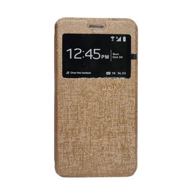 Delkin Flip Cover Casing for Xiaomi Redmi 3S or Pro - Gold
