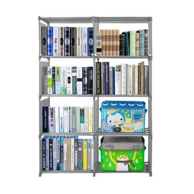 Godric Rak Buku Portable DOUBLE / L ... 5 x 30 x 125 CM - Abu-Abu