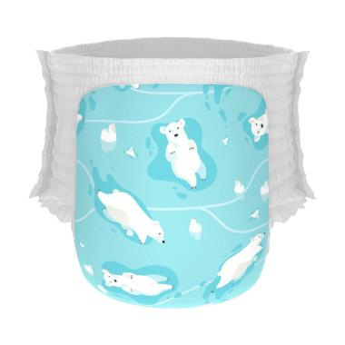 Happy Diapers Pant Popok Bayi - Winter Bears [Size L/26 pcs]