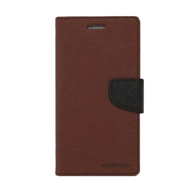 Mercury Fancy Diary Casing for Xiaomi Note Pro - Coklat Hitam