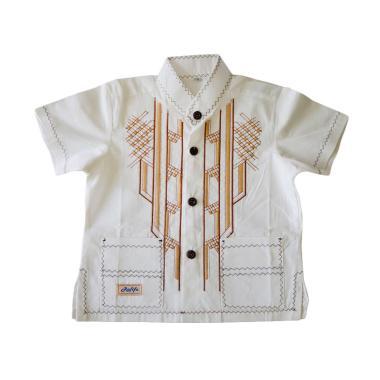 Rafifa Koko Pendek Gading Model D Baju Koko Anak - Putih