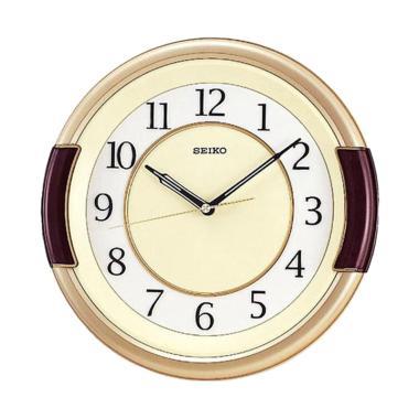 SEIKO QXA272G Wall Clock Jam Dinding - Metallic Gold Brown [31 cm]