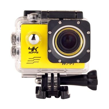 T4Shops 4K 30FPS WiFi Action Camera - Yellow [16 MP/Sony 179]