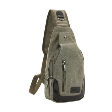 MartinversaKulit Canvas Sling Bag - Army Grey