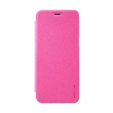 Nillkin Sparkle Leather Casing for Samsung Galaxy S8 - Pink