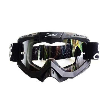Snail Kacamata Gogle MX37 Kaca Clear - Hitam [KMT6071-HitamKacaClear]