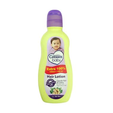 Cussons Candlenut Oil and Celery Baby Hair Lotion [100+100 mL]