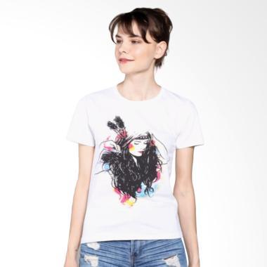 Ellipses Inc Tumblr Tee T-Shirt Wanita - Putih