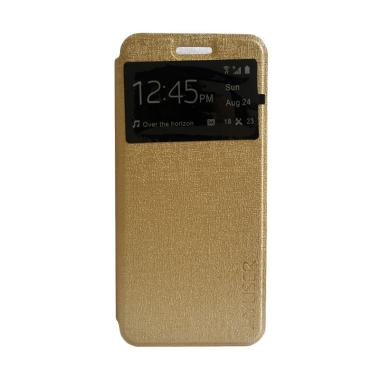 MyUser Flip Cover Casing for Xiaomi Note Pro - Gold