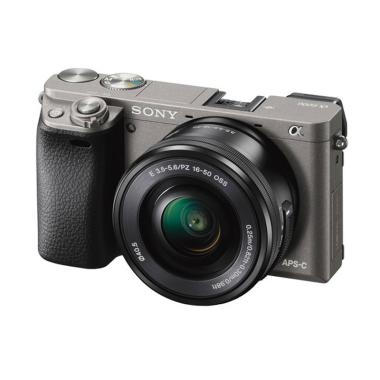 Sony Alpha A6000 Kit 16-50mm Kamera Mirrorless - Graphite Grey