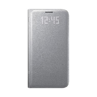 Samsung LED Wallet Casing for Galaxy S7 Flat - Silver