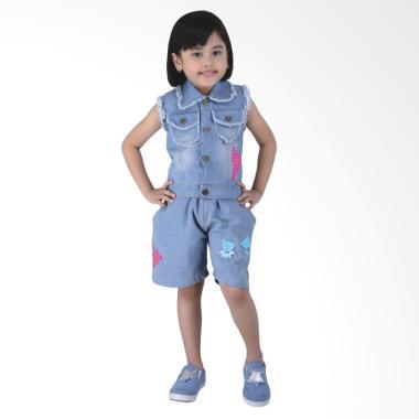 Catenzo Junior CJR CDF 121 Dress Anak Perempuan - Blue