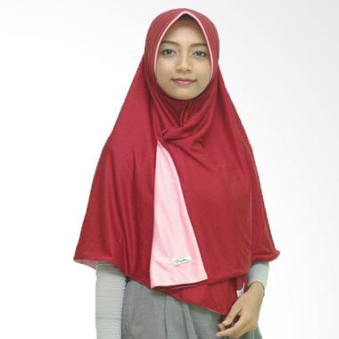 Pricilla Hijab instan Bolak-Balik Dua Warna - Vanila Rose