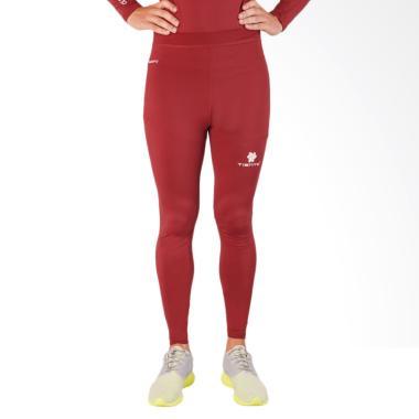 Tiento Long Pants Celana Fitness Pria - Maroon White