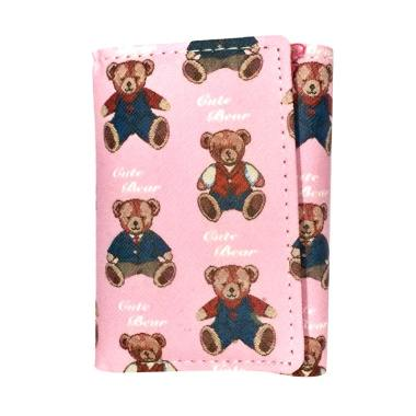 Fancy B Fashion Korea 912 Dompet Wanita - Small Pink Cute Bear