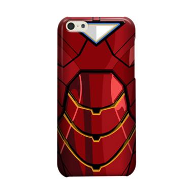 Indocustomcase Red Iron Man Body Casing for Apple iPhone 5C