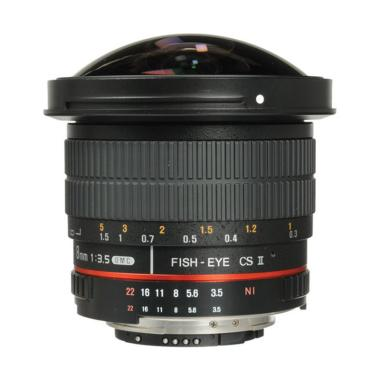 Samyang Lens 8mm F/3.5 Fisheye Detachable Hood For Nikon AE