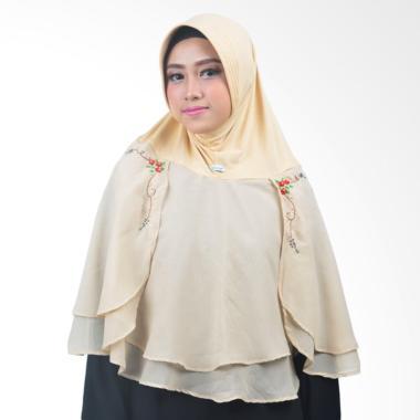 Atteena Hijab Alifa Rafiqah Medium Jilbab Instant - Tan