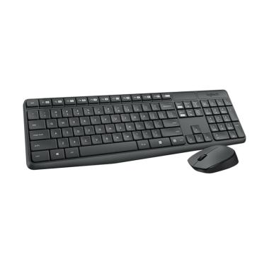 Logitech MK235 Combo Wireless Keyboard and Mouse - Hitam