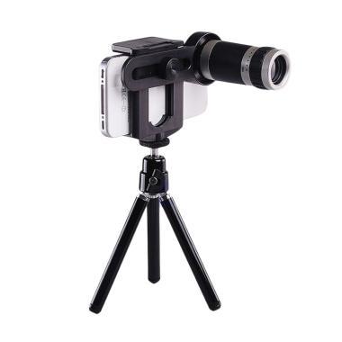 Universal Lensa Tele 8x Zoom Lens with Tripod