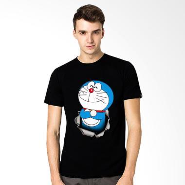 T-SHIRT GLORY 3D Doraemon Ajaib Kaos Pria - Hitam