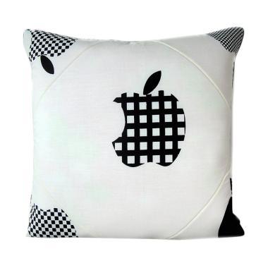 Melia Bedsheet Apple Sarung Bantal Sofa - White Black