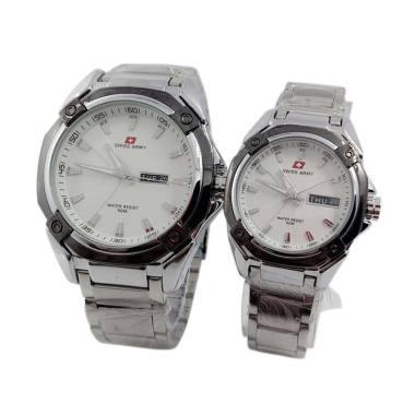 Swiss Army SA 6767 Jam Tangan Couple - White