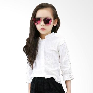 Cutevina TN17002 Girls Fashion Shirt Atasan Anak - White