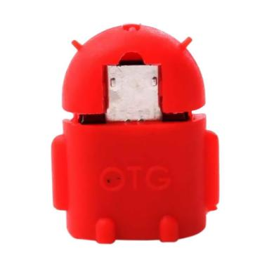 Orange Collections Robot Android USB OTG Adapter - Red