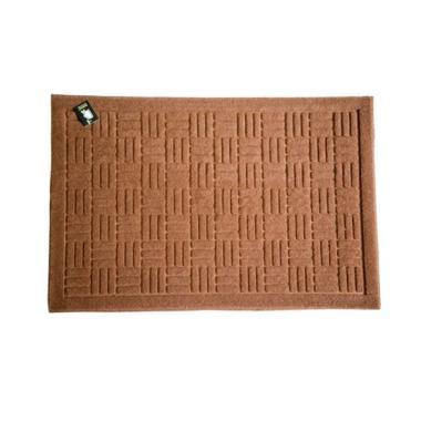 Dixon Motif Welcome Tikar Keset Outdoor - Coklat [40x60 cm]