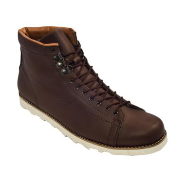 Giant Shoes Hideaki Boots Sepatu Pria - Dark Brown