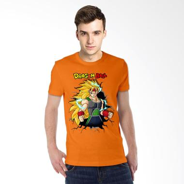 T-Shirt Glory 3D Bardock Dragon Ball Kaos Pria - Orange