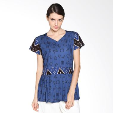 Fafa Collection Camelia 003 Blouse Batik Wanita Navy
