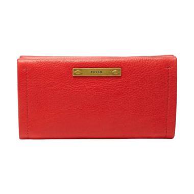Fossil Bella Large Bifold Wallet SL 6733622 Dompet Wanita - Red
