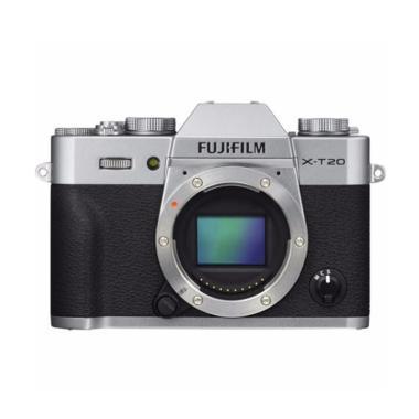 Fujifilm XT20 X-T20 Silver Body Fre ...   jpckemang GARANSI RESMI