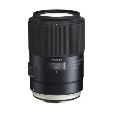 Tamron Lens SP 90mm f/2.8 DI Macro VC USD Lensa Kamera for Canon