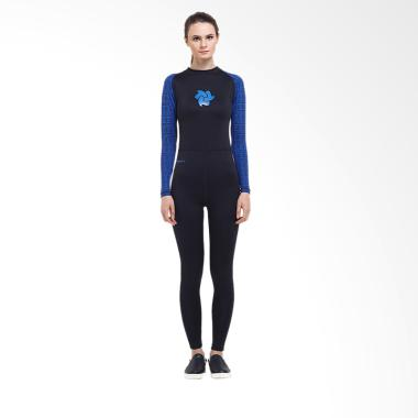 Tiento Black Blue Tribal Wetsuit Baju Renang Wanita Original