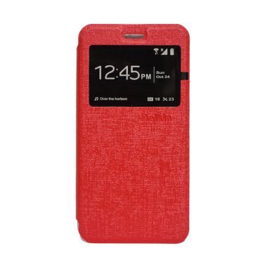 Delkin Flip Cover Casing for Xiaomi Redmi 3S or Pro - Merah