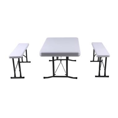 Krisbow Bar Beer Sets Meja dan Kursi Portable - Putih